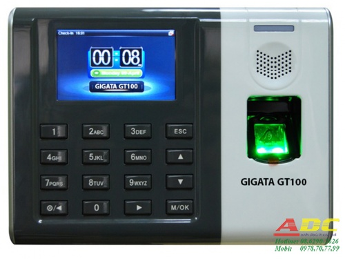 Máy chấm công vân tay và thẻ cảm ứng GIGATA GT100